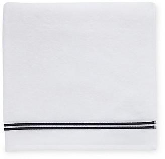 Sferra Aura Bath Sheet - White/Black