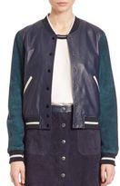 Rag & Bone Alix Two-Tone Leather & Suede Jacket
