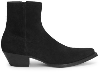 Saint Laurent Lukas Suede Western Ankle Boots