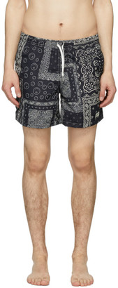 Bather Black Bandana Swim Shorts