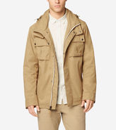 Cole Haan Military Oxford Double Collar Jacket