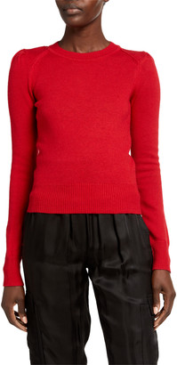 Etoile Isabel Marant Kleely Cotton-Wool Crewneck Sweater