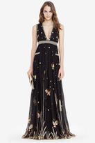 Diane von Furstenberg Vivanette Embroidered Tulle Goddess Gown