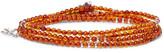 Isaia Silver Hematite Wrap Bracelet - Orange