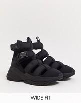 Asos Design ASOS DESIGN Wide Fit trainer sandals in black