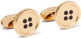 Paul Smith Button Gold-tone Enamel Cufflinks - Gold