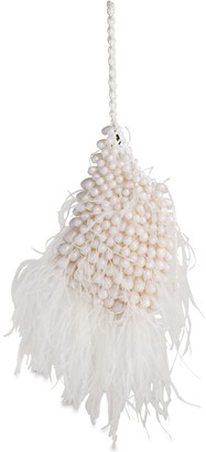 Cult Gaia Dory Beaded Feather Clutch