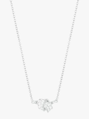 Carelle Mini Knot Pave Diamond Pendant