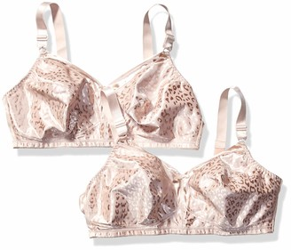 Just My Size Women's Satin Stretch Wirefree Plus Size Bra 2-Pack