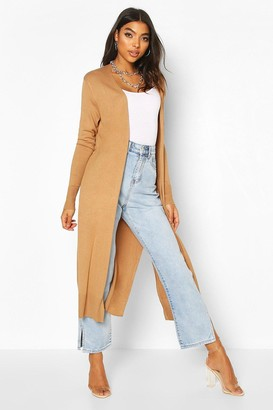 boohoo Tall Fine Knit Maxi Cardigan