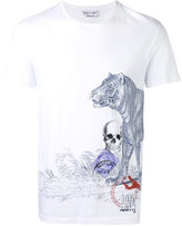 Alexander McQueen side printed T-shirt - men - Organic Cotton - L