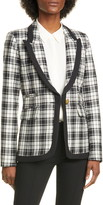Smythe Plaid Wool Blazer