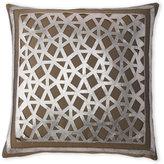 cloud 9 Faux Leather Geometric Cutout Pillow
