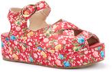 C Label Red & Yellow Floral Davita Platform Sandal