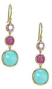 Ippolita Women's Lollipop Lollitini 18K Yellow Gold & Multi-Stone Triple-Drop Earrings