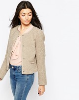 Vero Moda 3/4 Sleeve Press-Stud Jacket