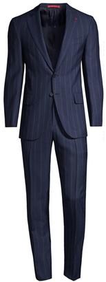 Isaia Pinstripe Wool Suit