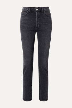 Citizens of Humanity Olivia High-rise Slim-leg Jeans - Charcoal