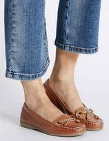 Marks and Spencer Leather Bow Boat Shoes