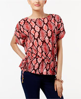 MICHAEL Michael Kors Printed Off-The-Shoulder Top, a Macy's Exclusive Style