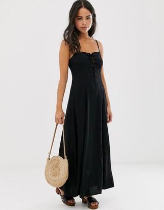Asos Design DESIGN cami maxi dress-Black