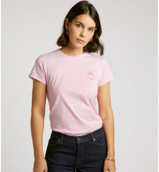 Maison Labiche Pink Hand Love Print Boyfriend T Shirt - s