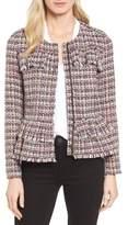 Halogen Ruffle Detail Tweed Jacket