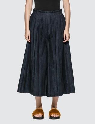 MM6 MAISON MARGIELA Denim Pleated Skirt Pants