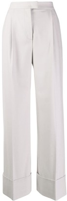 Alberta Ferretti Pleated Wide Leg Trousers