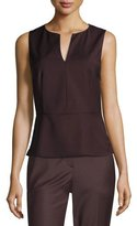 Theory Etia Continuous Wool-Blend Top, Garnet