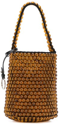 Jil Sander Beaded Drawstring Bucket Bag