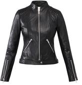 Gestuz Cameron Black Leather Biker Jacket