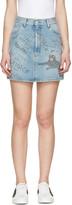 Gucci Blue Denim Scribble Miniskirt