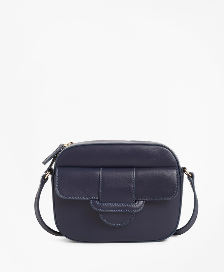 602790a3e89 Navy Striped And Leather Bag - ShopStyle