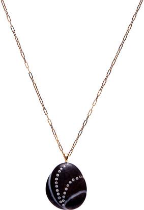 "Cvc Stones Twirl 18k Gold Necklace - One of a kind, 30"""