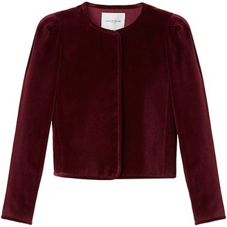 Lafayette 148 New York Scarlet Puff-Sleeve Jacket