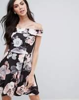 Jessica Wright Floral Bardot Skater Dress
