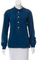 Mhl By Margaret Howell Denim Long Sleeve Top