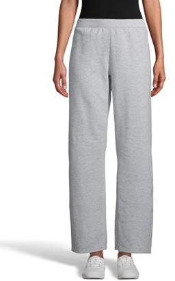 Hanes ComfortSoft EcoSmart Women's Open Bottom Leg Fleece Sweatpants