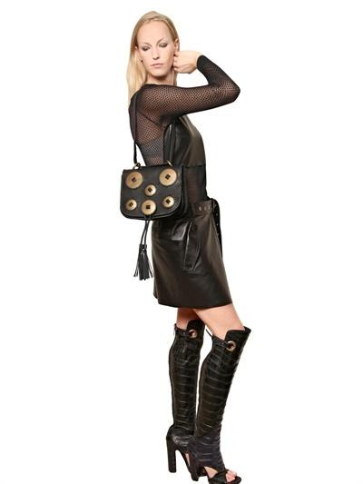 Salvatore Ferragamo Kamelia Woven Leather Shoulder Bag