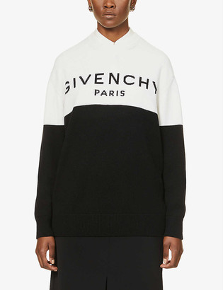 Givenchy Brand-pattern dropped-shoulders cashmere jumper