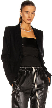 Rick Owens Soft Blazer Jacket in Black   FWRD
