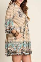 Umgee USA Floral Tunic Dress