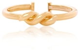 David Webb Polished Gold Twisted Nail Bangle