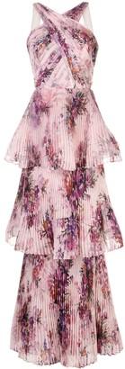 Marchesa Plated Halterneck Gown