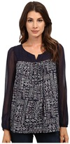 Lucky Brand Geo Peasant Top
