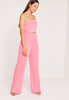 Missguided Wide Leg Pants Pink