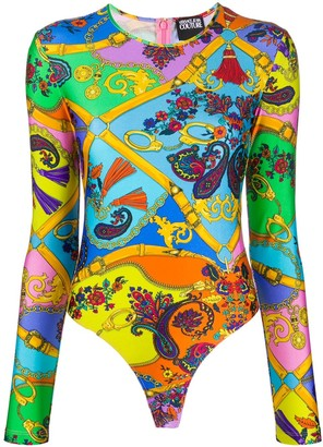 Versace Graphic-Print Bodysuit