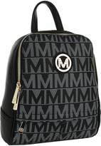 Mkf Collection By Mia K. MKF Collection by Mia K. Women's Handbags Black - Black Logo Daliza Backpack
