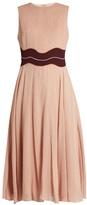 Roksanda Varga contrast-waist silk-crepe dress